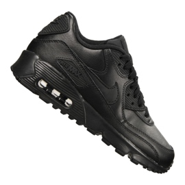Czarne Buty Nike Air Max 90 Ltr Gs Jr 833412-001