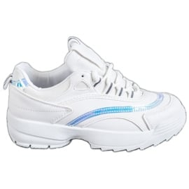 SHELOVET Modne Białe Sneakersy