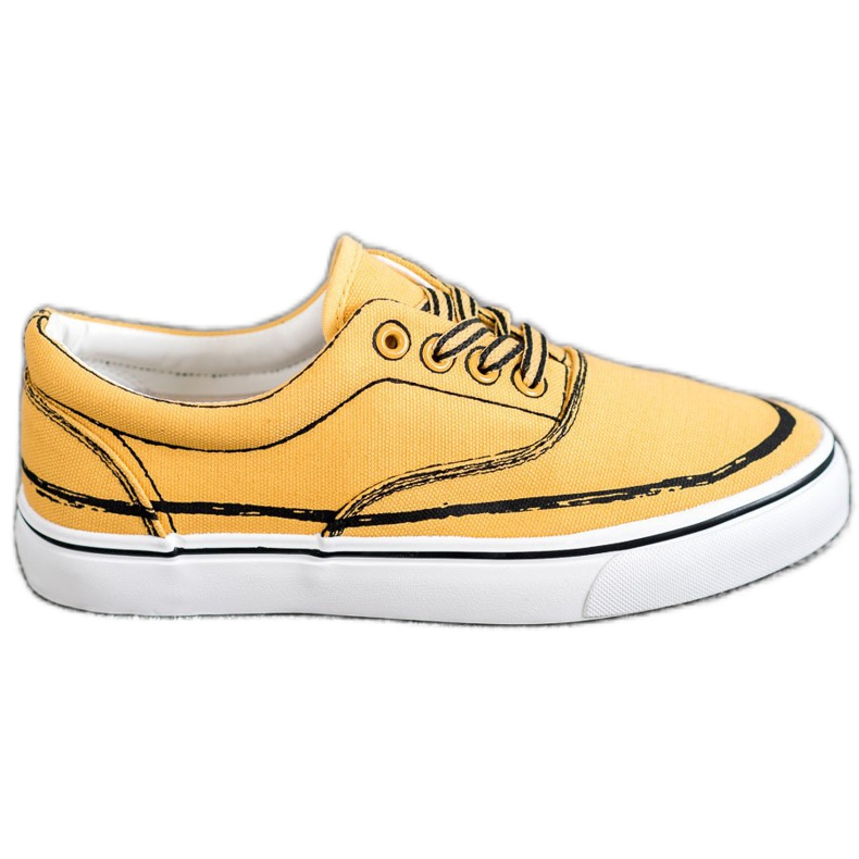 Bestelle Modne Trampki żółte