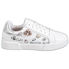 Bestelle białe Buty Sportowe Z Ozdobami