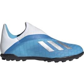 Buty piłkarskie adidas X 19.3 Ll Tf Jr EF9123 niebieskie niebieskie