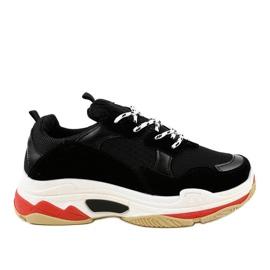 Czarne modne obuwie sportowe LL1710