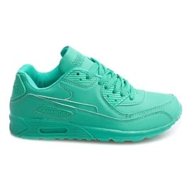 Zielone Sneakersy Adidasy Neon LC4005 Miętowy