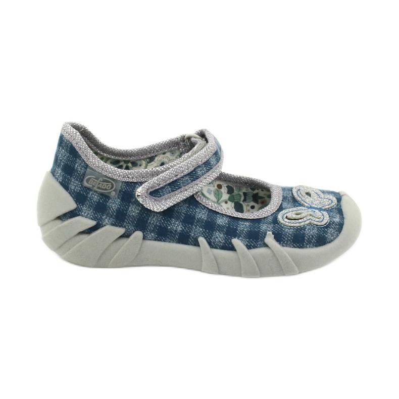 Befado obuwie dziecięce 109P188 niebieskie szare