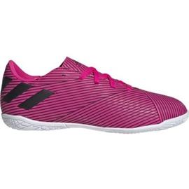 Buty halowe adidas Nemeziz 19.4 In Jr F99939 różowe różowy