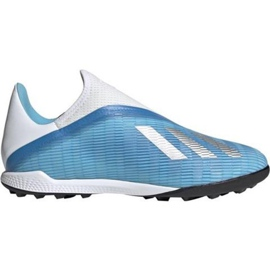 Buty piłkarskie adidas X 19.3 Ll Tf M EF0632 niebieskie niebieskie