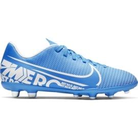 Buty piłkarskie Nike Mercurial Vapor 13 Club FG/MG Jr AT8161-414 niebieskie niebieskie