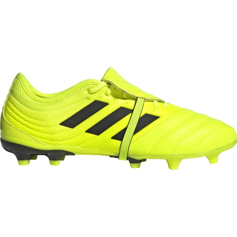 Buty piłkarskie adidas Copa Gloro 19.2 Fg M F35491 żółte różowe