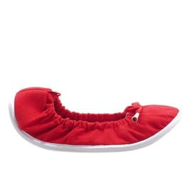 Klasyczne Balerinki VB1 Czerwony czerwone