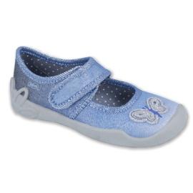 Befado obuwie dziecięce 123X035 niebieskie