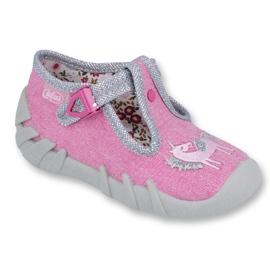 Różowe Befado obuwie dziecięce 110P360