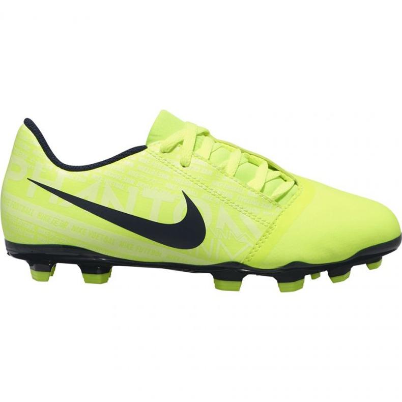 Buty piłkarskie Nike Phantom Venom Club Fg Jr AO0396-717 żółte żółte