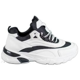 SHELOVET Sneakersy Fashion białe czarne