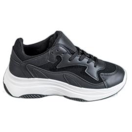 SHELOVET czarne Sportowe Sneakersy