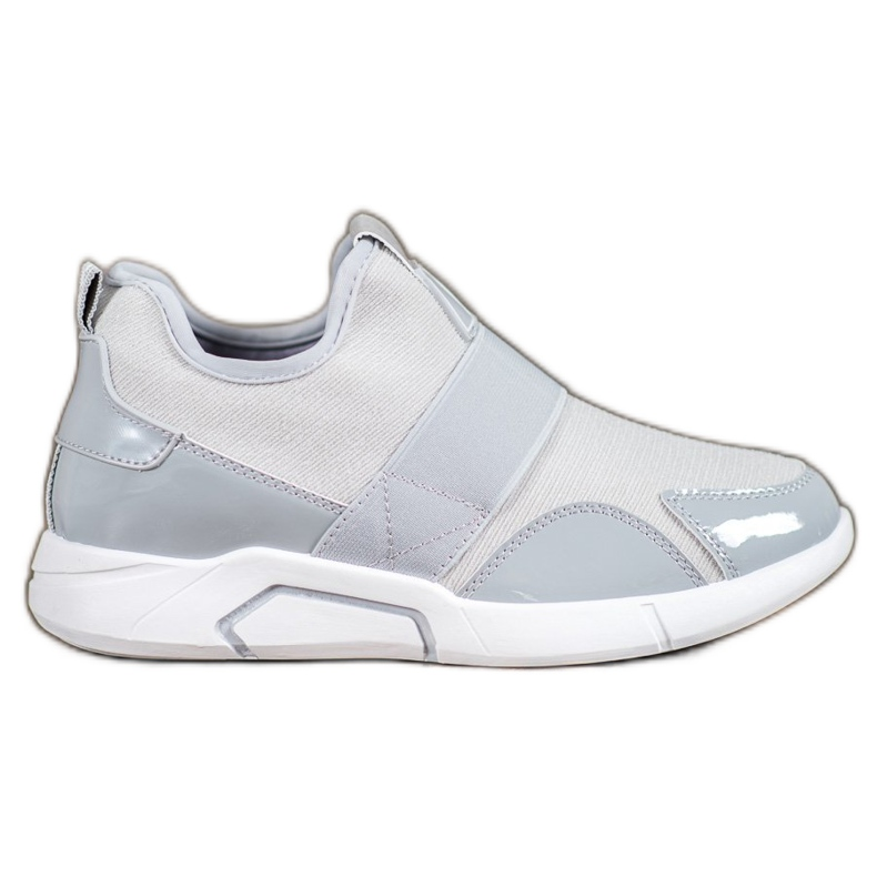 Ideal Shoes Wsuwane Trampki Fashion szare