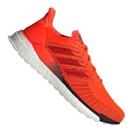 Pomarańczowe Buty biegowe adidas Solar Boost 19 M G28462
