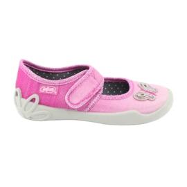 Różowe Befado obuwie dziecięce 123X038
