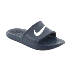 Klapki Nike Kawa Shower 832528 400 białe granatowe