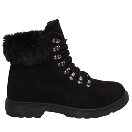 Buty traperki damskie czarne Y260-9 Black