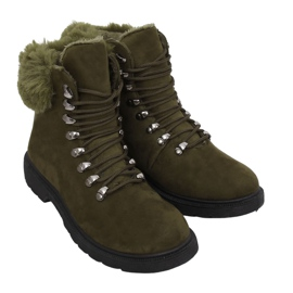 Buty traperki damskie zielone Y260-9 Green