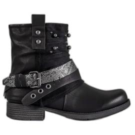Bestelle Biker Boots czarne