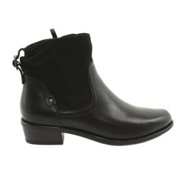 Czarne Botki damskie Caprice 25335 czarny