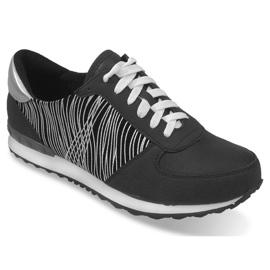 Sneakers Sportowe Trampki Y617 Czarny czarne szare