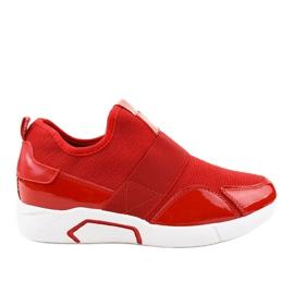 Czerwone damskie obuwie sportowe X-9761