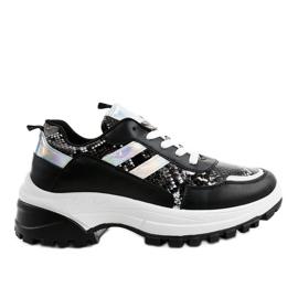 Czarne stylowe obuwie sportowe 690051