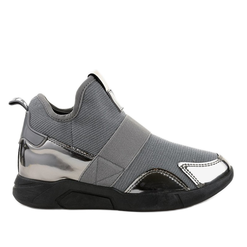 Szare obuwie sportowe z gumką SJ1836-3