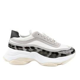 Szare obuwie sportowe snake YY-02
