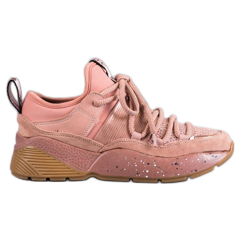 SHELOVET Wsuwane Buty Sportowe różowe