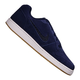 Granatowe Buty Nike Ebernon Low Prem M AQ1774-400
