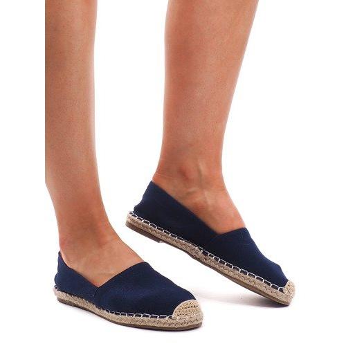 Sandały Espadryle F169-6 Niebieski niebieskie