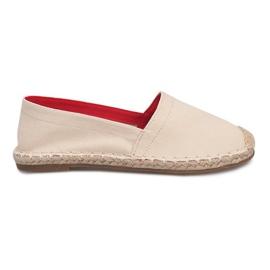 Sandały Espadryle F169-6 Beżowy brązowe
