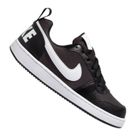 Buty Nike Court Borough Low Pe (GS) Jr BQ7566-002 czarny czarne