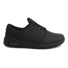 Czarne Sportowe obuwie do biegania 7765-1 Czarny
