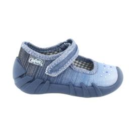 Befado obuwie dziecięce 109P186 niebieskie