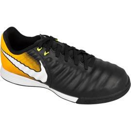 Buty piłkarskie Nike TiempoX Ligera Iv Ic Jr 897730-008 czarne czarny, żółty