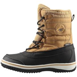 Buty zimowe 4F Jr HJZ19-JOBMA001 71S beżowy czarne