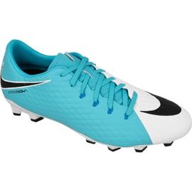 Buty piłkarskie Nike Hypervenom Phelon Iii Fg M 852556-104 niebieskie wielokolorowe