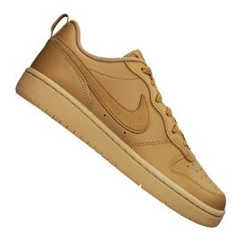 Buty Nike Court Borough Low 2 (GS) Jr BQ5448-700 brązowe