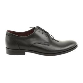 Półbuty pantofle skórzane Pilpol 1609 czarne