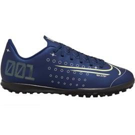 Buty piłkarskie Nike Mercurial Vapor 13 Club Mds Tf Jr CJ1179-401 granatowy granatowe