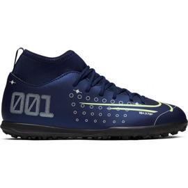 Buty piłkarskie Nike Mercurial Superfly 7 Club Mds Tf Jr BQ5416-401 granatowe granatowy