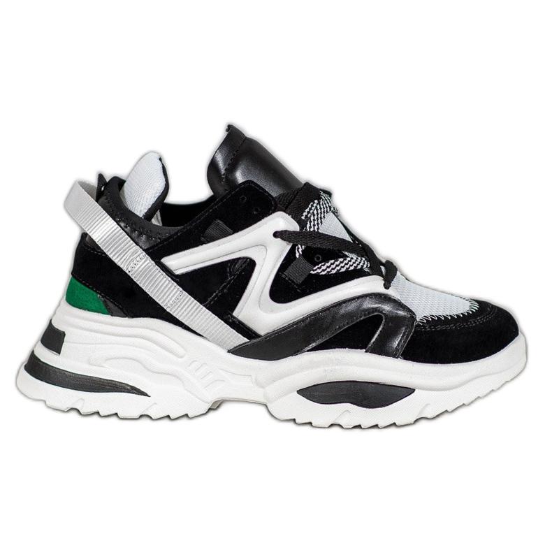 Modne Sneakersy VICES białe czarne wielokolorowe