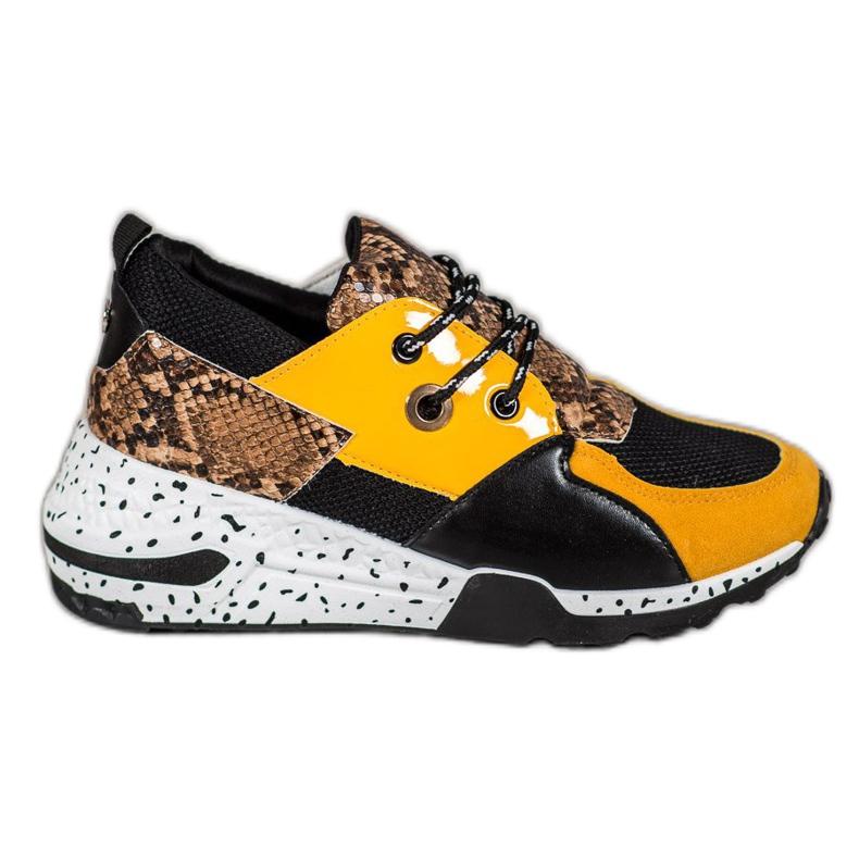 Sneakersy Snake Print VICES wielokolorowe żółte