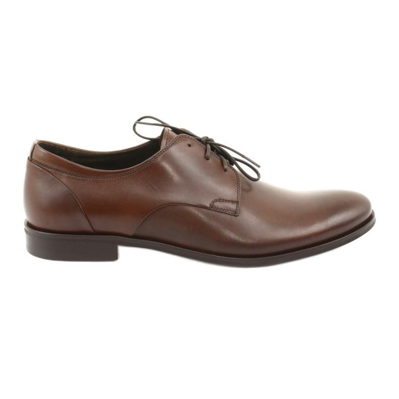 Półbuty pantofle skórzane Pilpol 1609 brąz brązowe