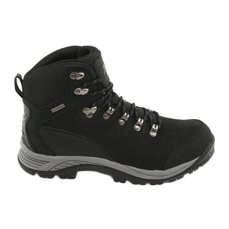 Buty Trekkingowe wiązane czarne Atletico 66176