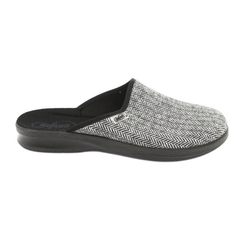 Befado obuwie męskie pu 548M023 czarne szare
